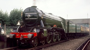 The world famous steam train the 'Flying Scotsman' designed by locomotive engineer, Sir Nigel Gresley.