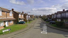 The fire happened in the early hours of Tuesday in Donaldson Avenue, Broughton, Northamptonshire.