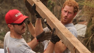 Prince Harry worked up a sweat helping rebuild school devastated by Nepal earthquake