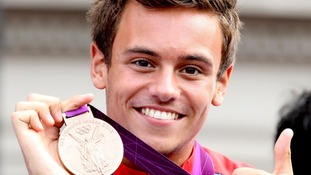 Olympic diver Tom Daley.