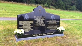 Sir Jimmy's headstone unveiled
