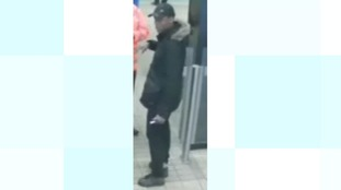 Image of a man police would like to speak to in connection with an assault at St James' Metro Station