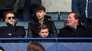 Director of Leeds United Edoardo (centre) with father and Leeds United Owner Massimo Cellino (left)