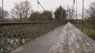 The Dockray Footbridge is expected to remain closed until the end of next week