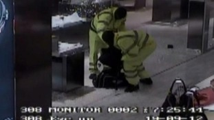 Three masked men raid the Selfridges store in Manchester.