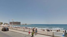 The beach in Torrevieja, near Alicante, Spain