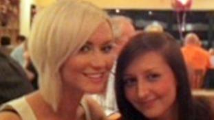 Nicola Hughes with friend Naomi Walker