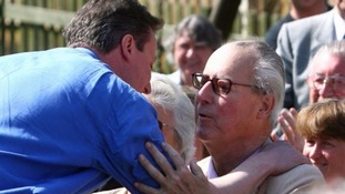 David Cameron with his late father Ian in 2010.