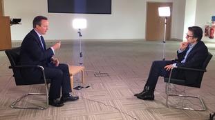 David Cameron speaks to Robert Peston.