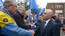 Sajid Javid met with steelworkers in Port Talbot today.