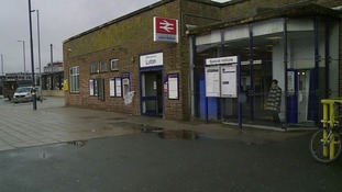 Luton station.