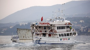 Turkish ferry which transported migrants from Greece to Turkey