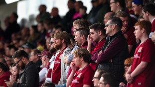 Fans at Sixfields.