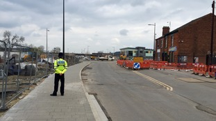Roads have been closed and buildings evacuated in Lincoln following a gas leak