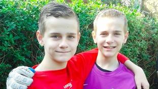 Identical twins Kieran and Luke McCoy.