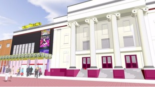 Artist's impression of how the theatre will look after the renovation work