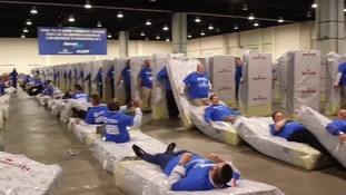 New world record set for largest human mattress dominoes