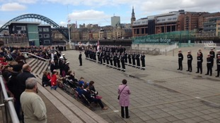 PICTURES: HMS Calliope rededication parade