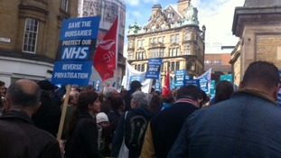 'Save the NHS' march through Newcastle