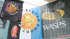 Exeter Chiefs take on premiership side Wasps