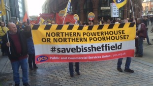 Protest against business department's retreat from Sheffield