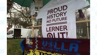 Fans arrive at Villa Park.
