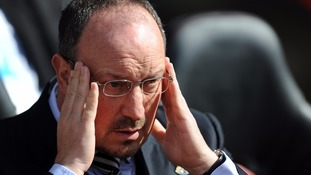Newcastle United manager Rafael Benitez during the game against Southampton