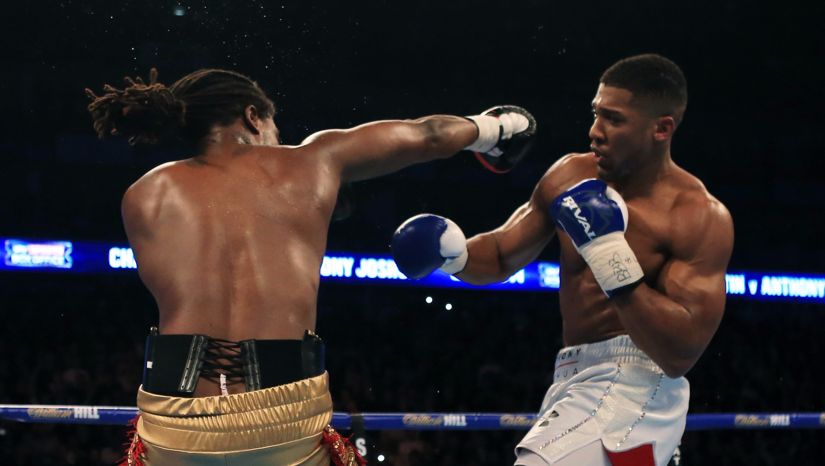 In Pictures: Anthony Joshua's title winning fight
