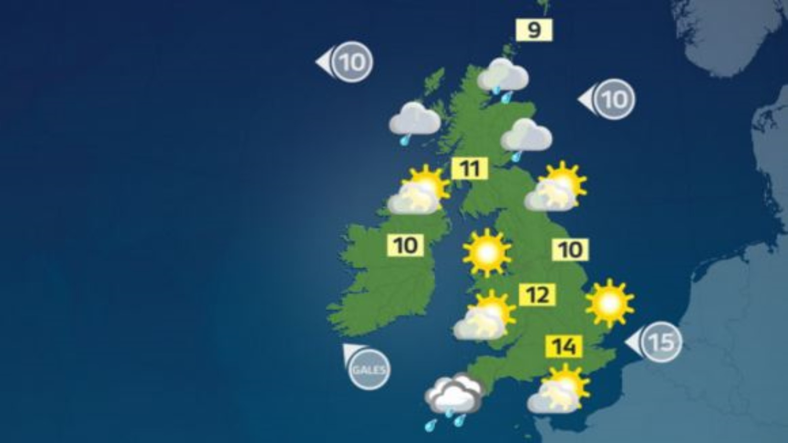 Weather: A cold start to the day for most of the UK