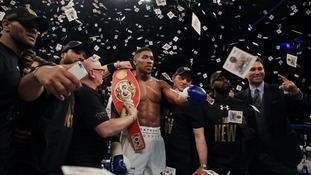 Anthony Joshua claims IBF title at London's O2