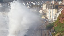 Waves were high at Dawlish