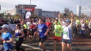 Around 12,000 runners are taking part in this year's Manchester marathon.