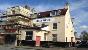 The Jolly Roger pub in Easton, Bristol