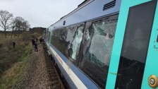 The collision happened at a level crossing