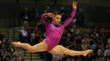 Claudia Fragapane on the floor exercise during the British Championships
