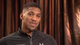 Boxer Anthony Joshua raps about his win for ITV News