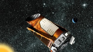 Artist's composite of the Kepler telescope