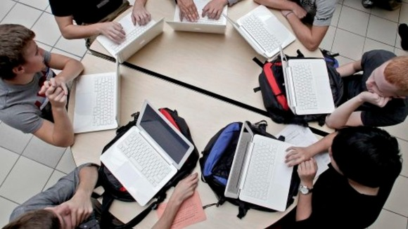 Pupils on computers