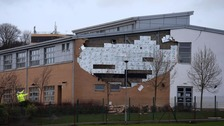 Oxgangs Primary School was recently damaged by Storm Gertrude
