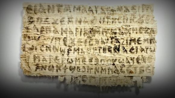 The tiny fragment of papyrus around which the controversy revolves