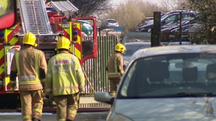 At its height nearly 80 firefighters and 10 fire appliances were tackling the scrapyard fire.