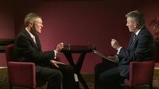 ITV Border's Political Editor Peter MacMahon with Scottish Liberal Democrats leader Willie Rennie