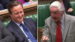 Labour MP Dennis Skinner ejected from Commons after calling PM 'dodgy Dave'