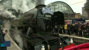 The Flying Scotsman made an historic journey along the East Coast line in February.