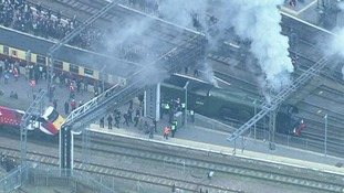 Crowds turned out in force to see The Flying Scotsman travel through the Anglia region in February.
