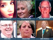The six victims from the Calendar region who died in the attacks will be remembered