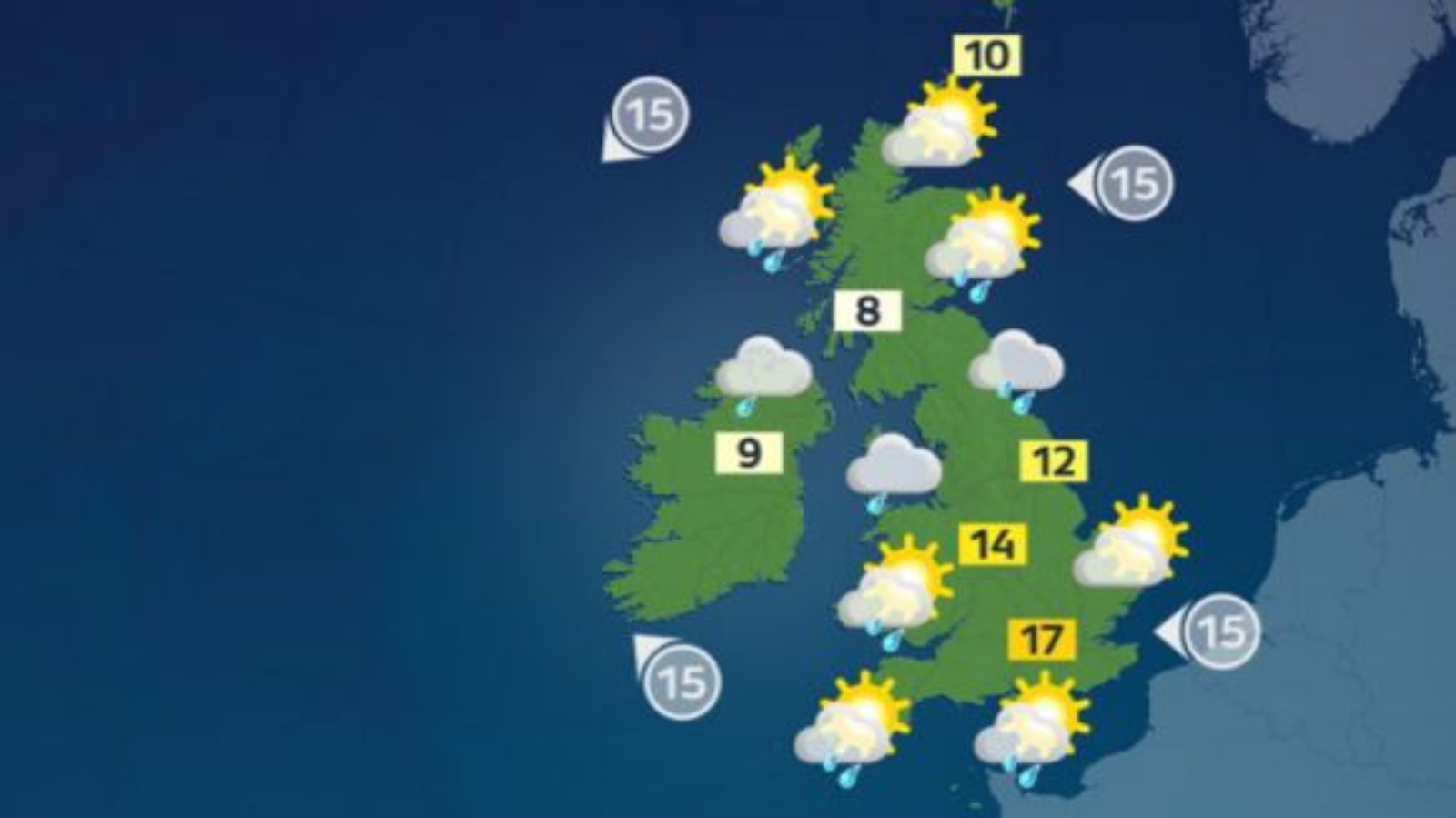 A dry start for most with some passing mist and fog