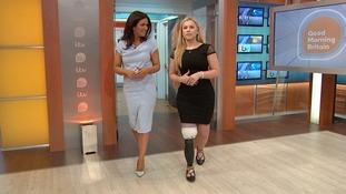 Alton Towers crash victim Vicky Balch walks unaided with prosthetic leg