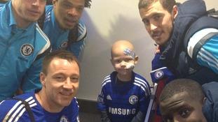 Tommi met his idols at Stamford Bridge last year.