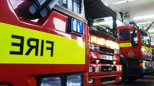 A woman has been rescued from a bungalow fire in Wootton near Bedford.
